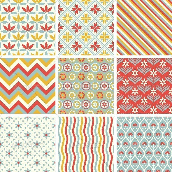 GraphicRiver Patterns Set 8413452