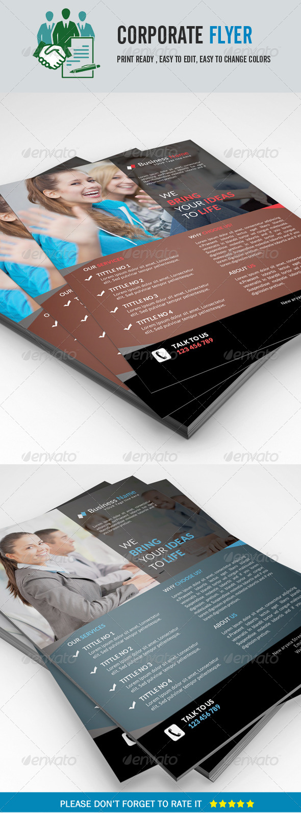 GraphicRiver Corporate Business Flyer 8413618