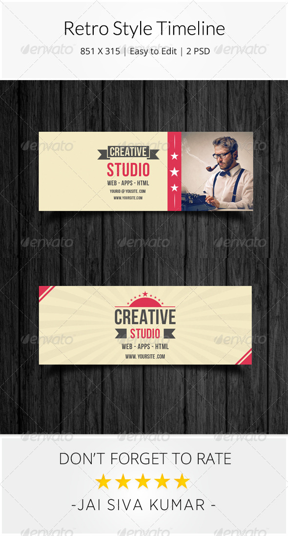 GraphicRiver Retro Style Corporate Timeline 8413647