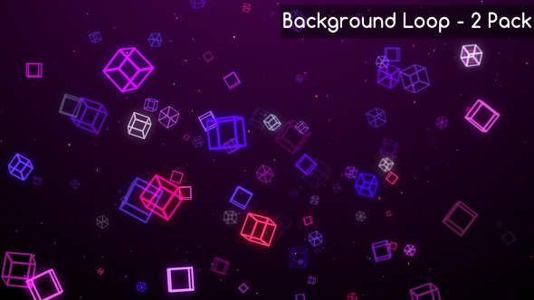 Cube And Square Moving Backgrounds