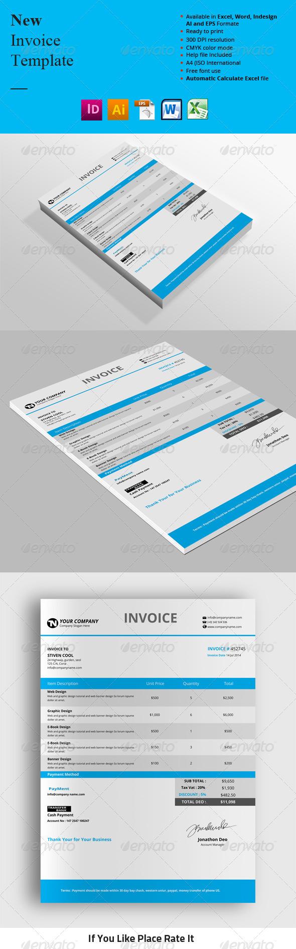 GraphicRiver New Invoice Templates 8413739