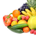 vegetables and fruits isolated on white background - PhotoDune Item for Sale