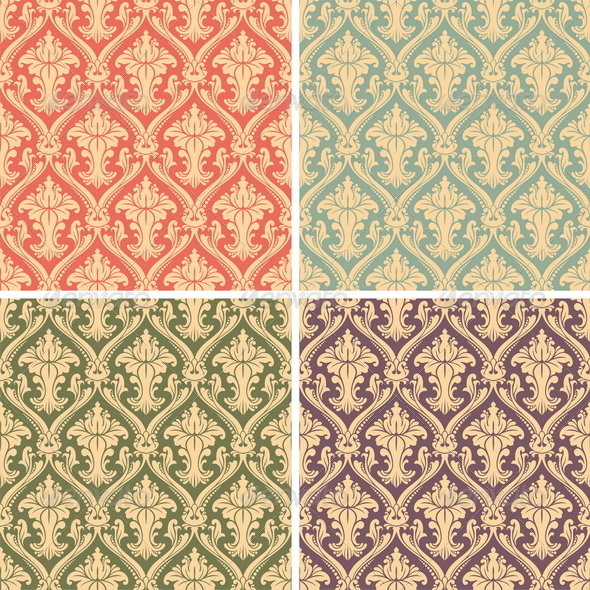 GraphicRiver Vector Damask Pattern 8413930
