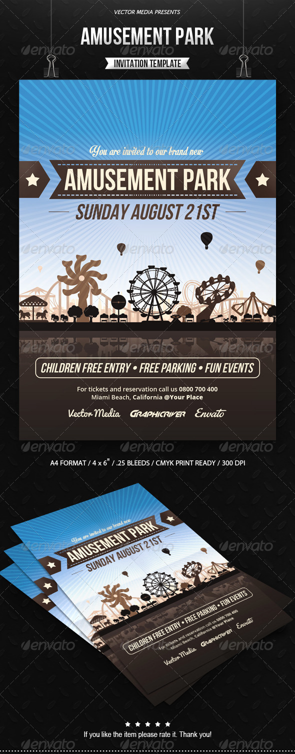 GraphicRiver Amusement Park Invitation 8408223