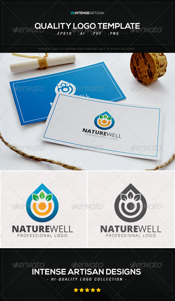 GraphicRiver Nature Well Logo Template 8414138