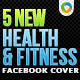 Health & Fitness Facebook Covers - 5 Designs - GraphicRiver Item for Sale