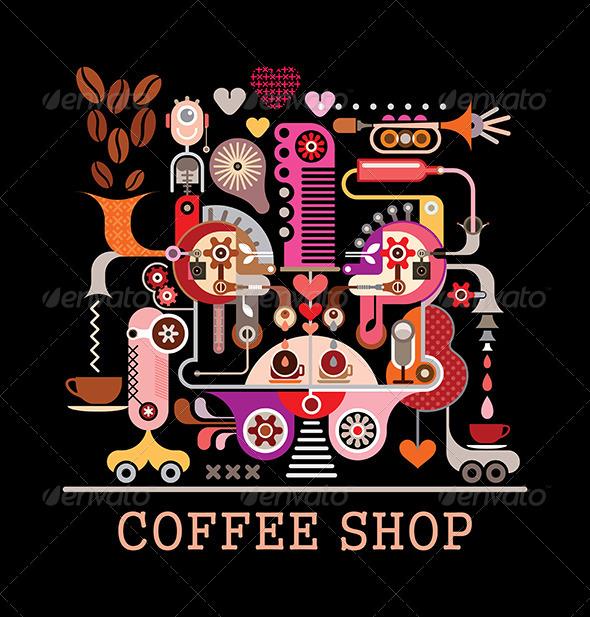 GraphicRiver Coffee Shop Vector Illustration 8414529