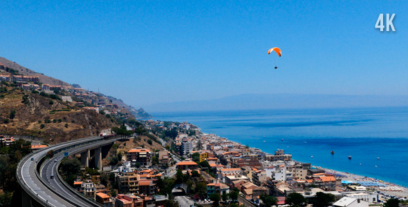 Paraplane Over The Coast