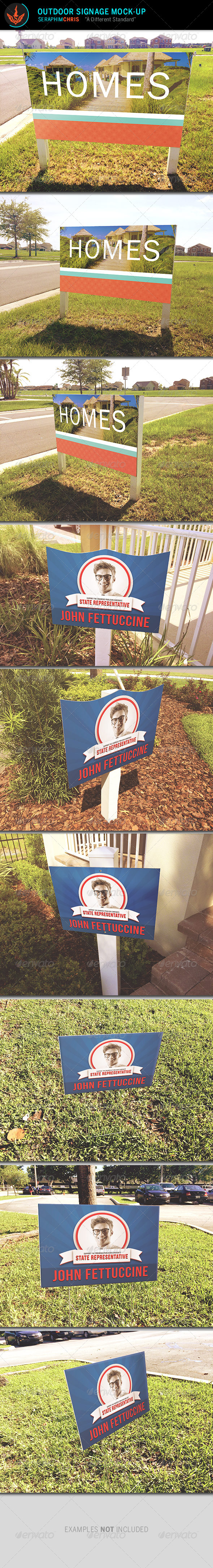 GraphicRiver Outdoor Signage Mock Up Template 8409809
