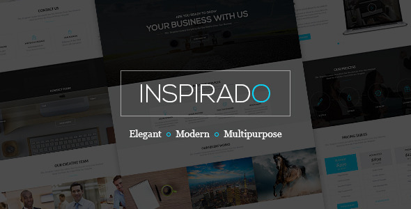 Inspirado clean and modern multi-purpose PSD template for all kind of business. Perfectly suits for corporate agency, business companies, design studios. Quali