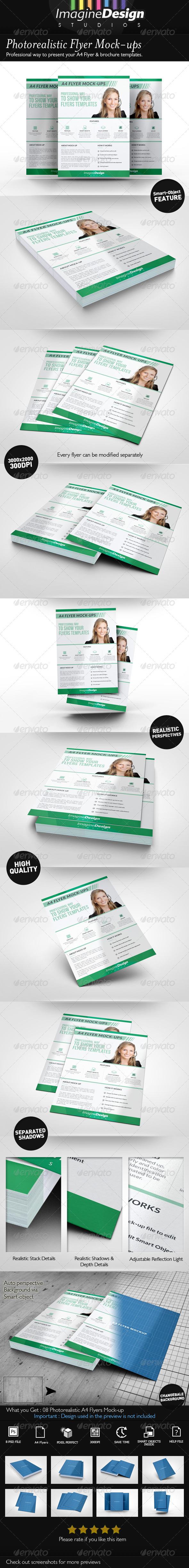 GraphicRiver Photorealistic Flyer Mock-ups 8414646