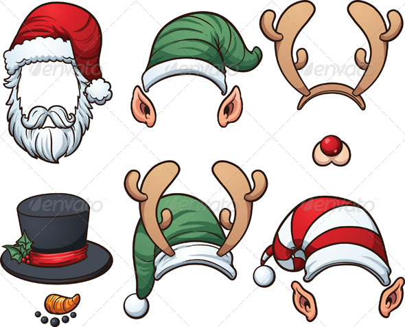 GraphicRiver Christmas Hats 8414776