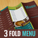 3 Fold Typographic Menu | All Purpose & Vegan Food - GraphicRiver Item for Sale