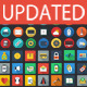 200 Flat Icons - GraphicRiver Item for Sale
