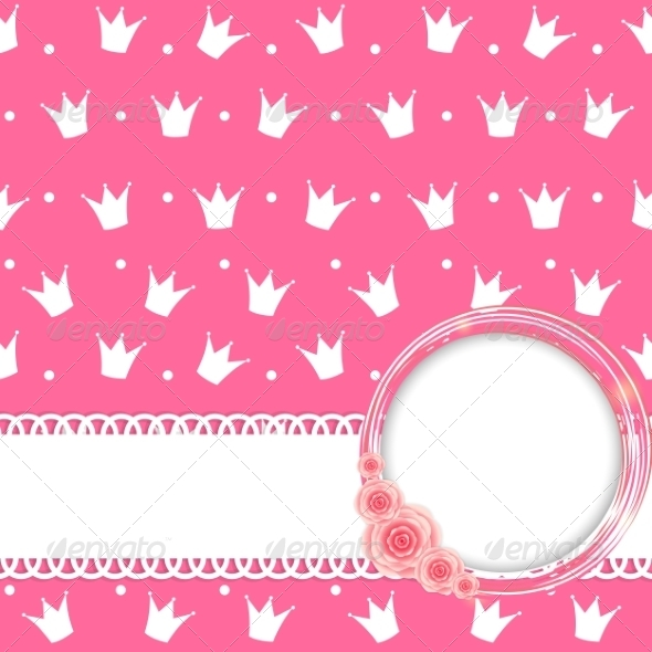 GraphicRiver Princess Crown Background Vector Illustration 8414973