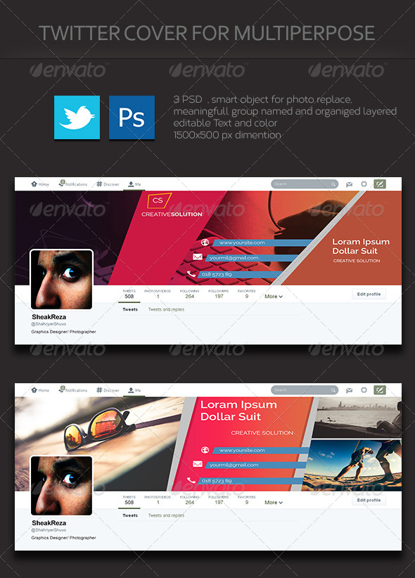 GraphicRiver Multipurpose Twitter Cover 1.0 8415411