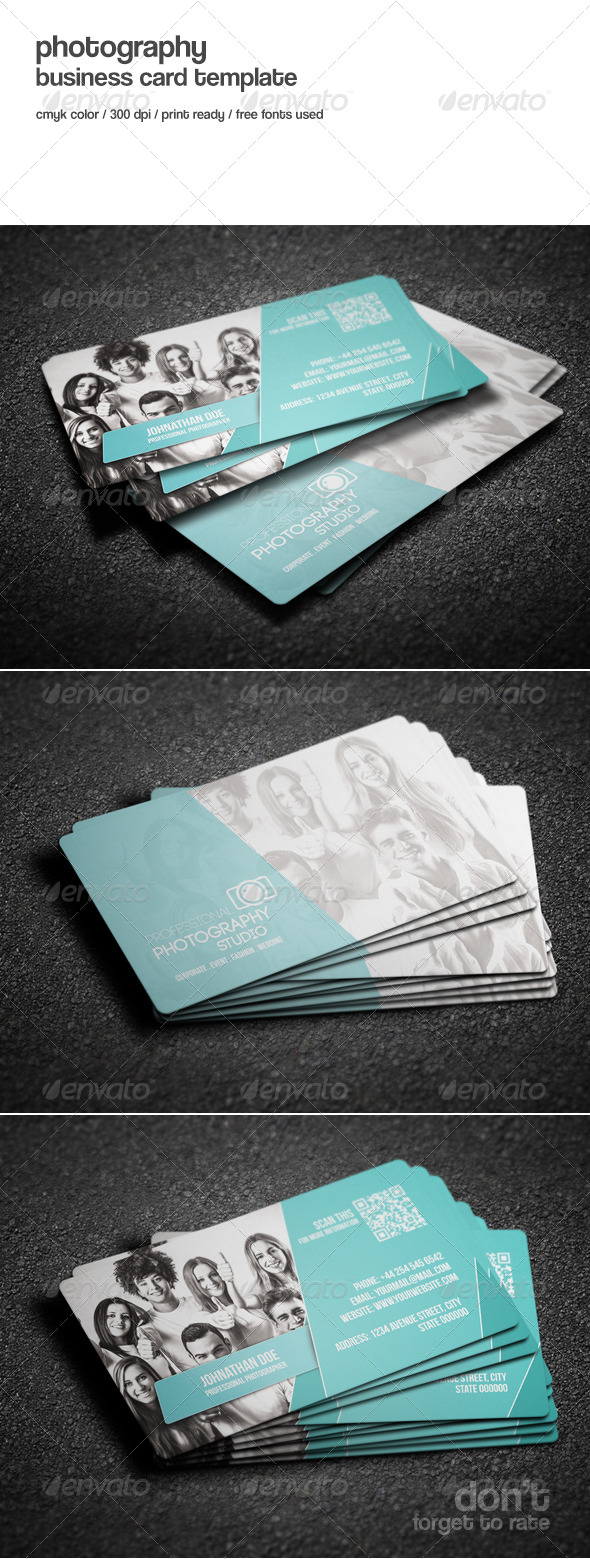 GraphicRiver Photography Studio Business Card 8415426