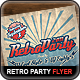 Retro Party Flyer Poster - GraphicRiver Item for Sale