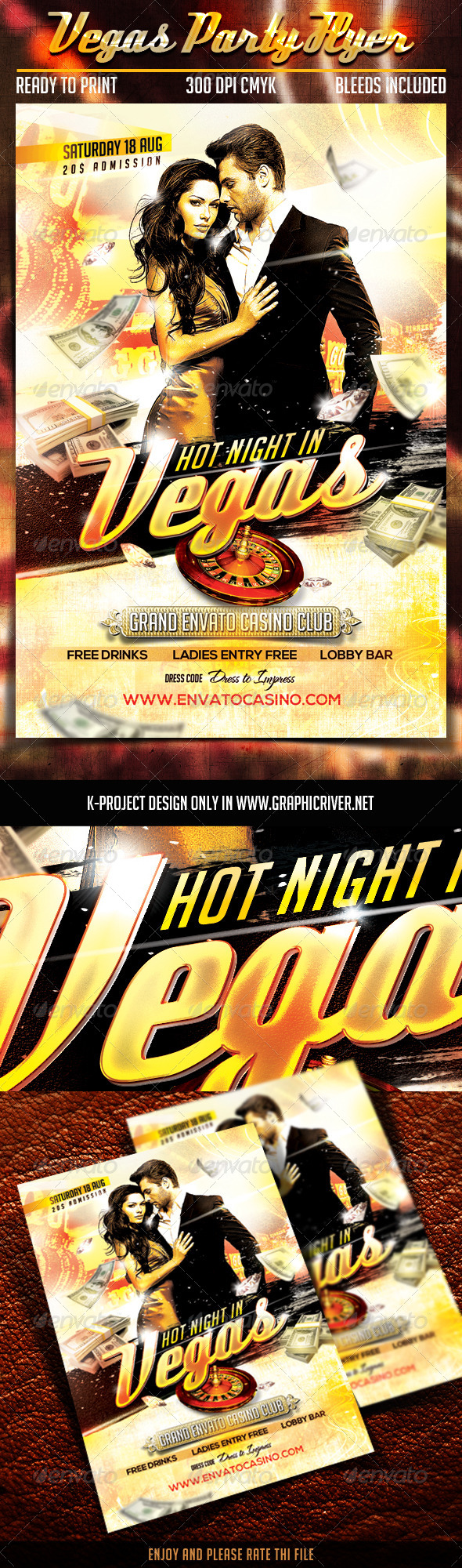 GraphicRiver Vegas Party Flyer 8415472