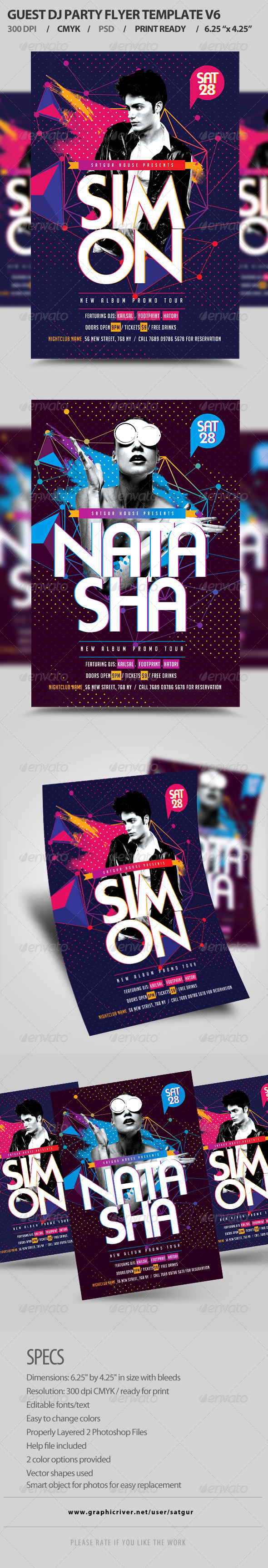 GraphicRiver Guest DJ Party Flyer Template PSD V6 8415564