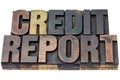credit report in wood type - PhotoDune Item for Sale