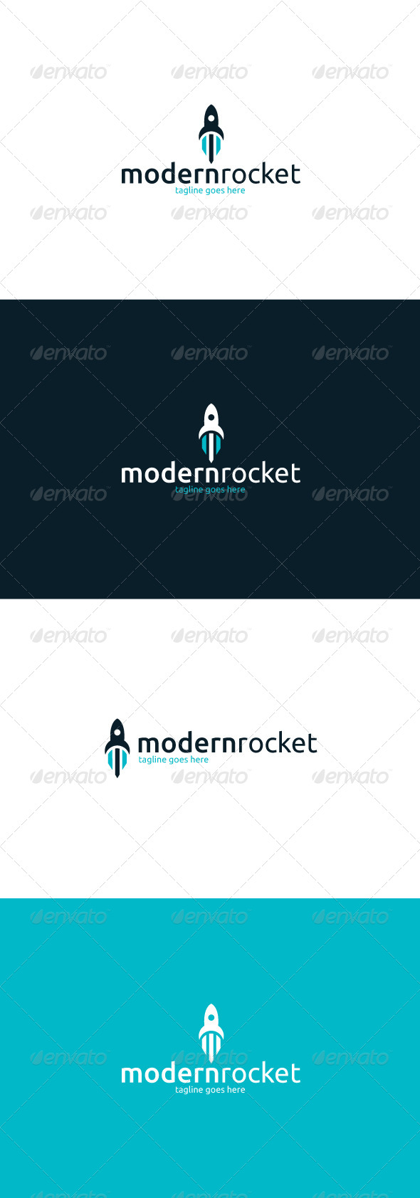GraphicRiver Modern Rocket Logo 8415768