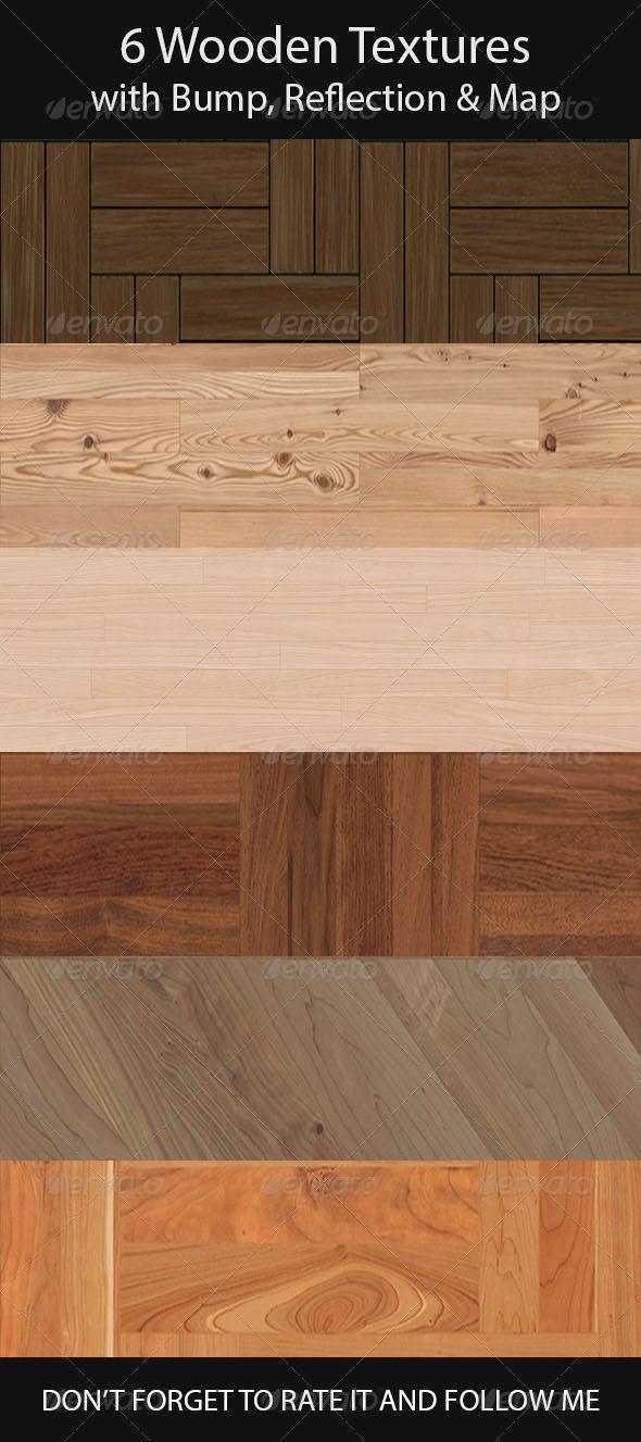 6 Wooden Floor Tileable Texture - 3DOcean Item for Sale