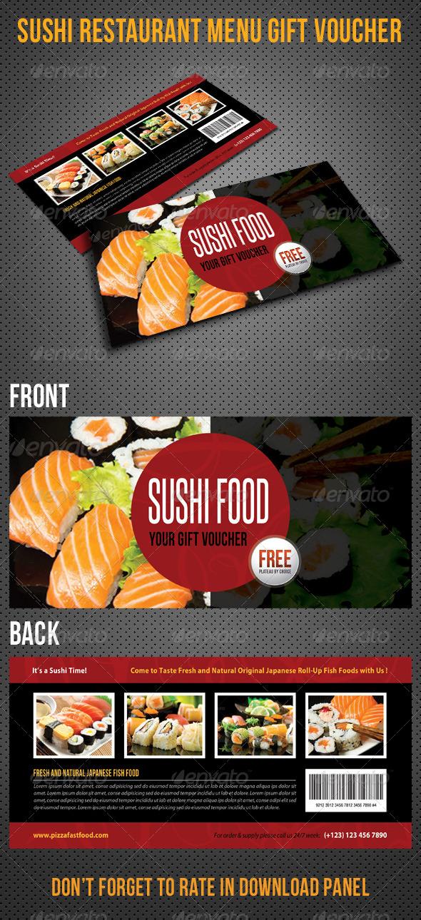 GraphicRiver Sushi Restaurant Menu Gift Voucher V23 8415826