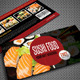 Sushi Restaurant Menu Gift Voucher V23 - GraphicRiver Item for Sale