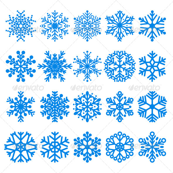 GraphicRiver Set of Snowflakes 8416025