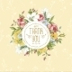 Vintage Greeting Card with Flowers - GraphicRiver Item for Sale