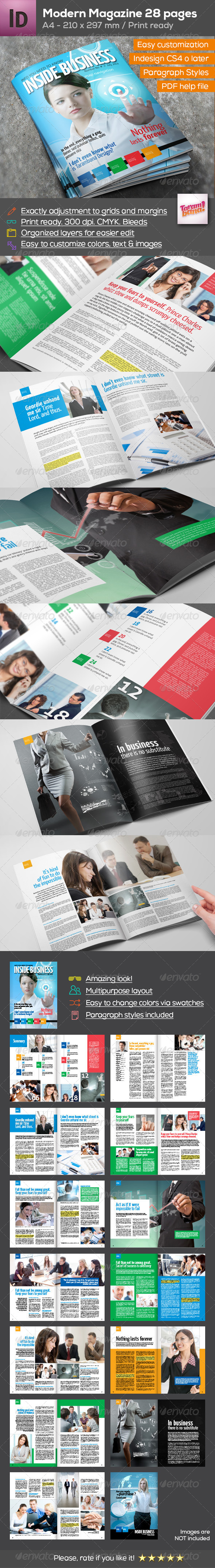 GraphicRiver Business Magazine A4 28 pages 8365621
