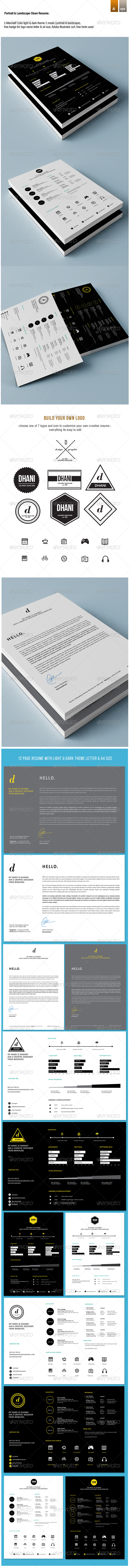 GraphicRiver Landscape & Portrait Creative CV Resume 8410009