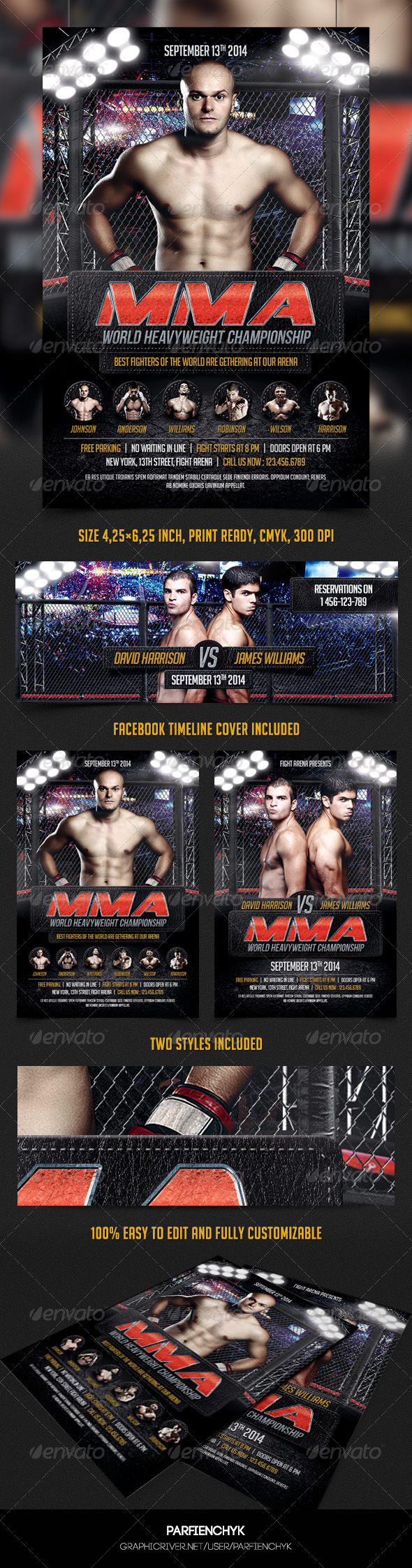 GraphicRiver MMA Flyer Template 8368878