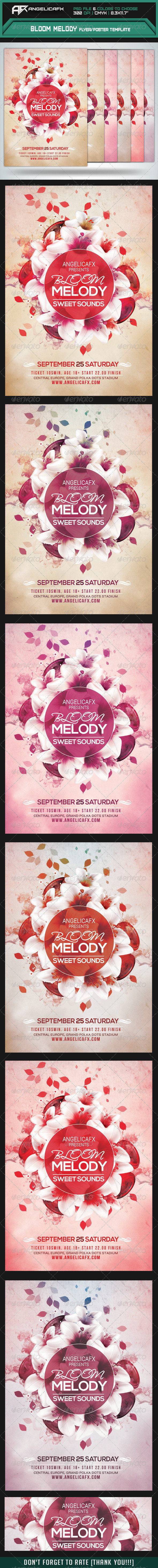GraphicRiver Bloom Melody Flyer Poster Template 8413011