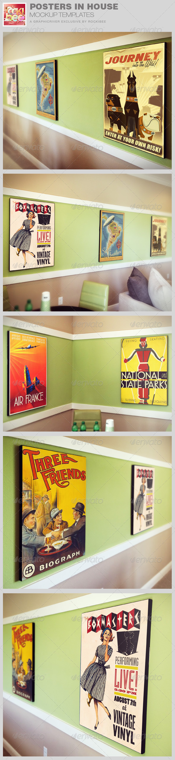 GraphicRiver Poster in House Mockup Templates 8416221
