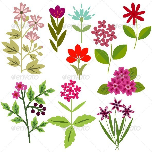 GraphicRiver Flowers Set 8416346