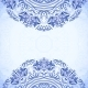 Blue Template with Floral Pattern - GraphicRiver Item for Sale