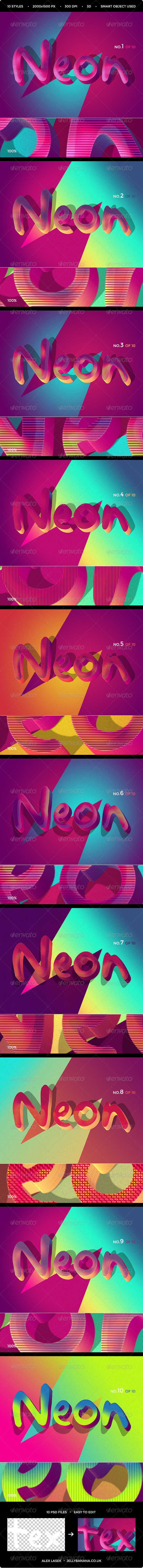 GraphicRiver Retro Funky 3D Text Effects 10PSD 8416559