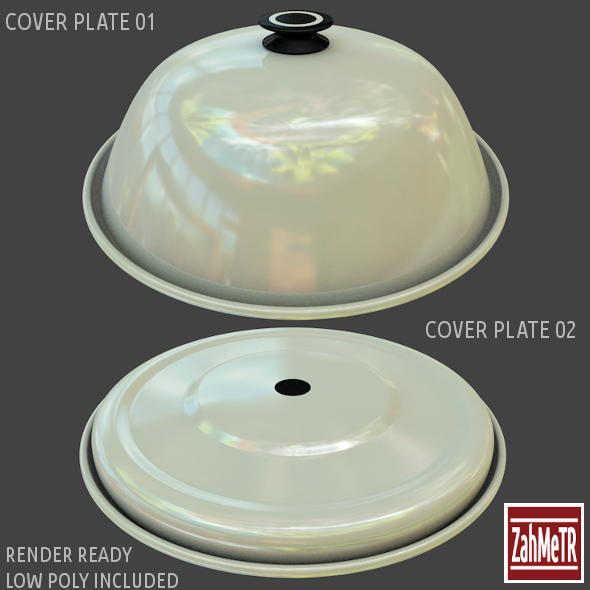 3DOcean Cover Plates 1 2 Low High Polygons 8416561