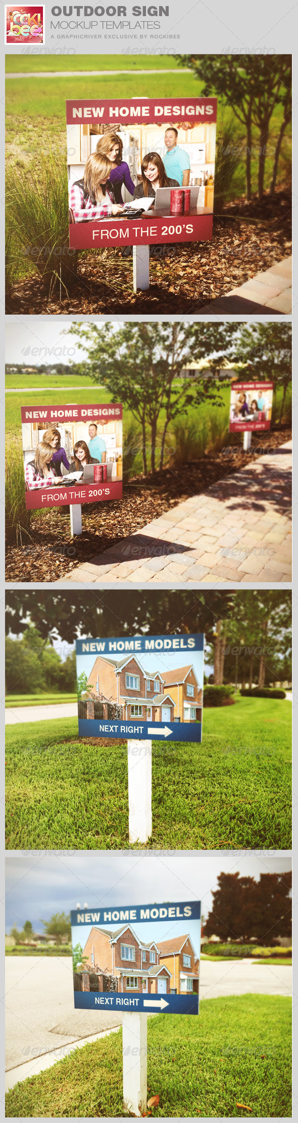 GraphicRiver Outdoor Sign Mockup Templates 8416734