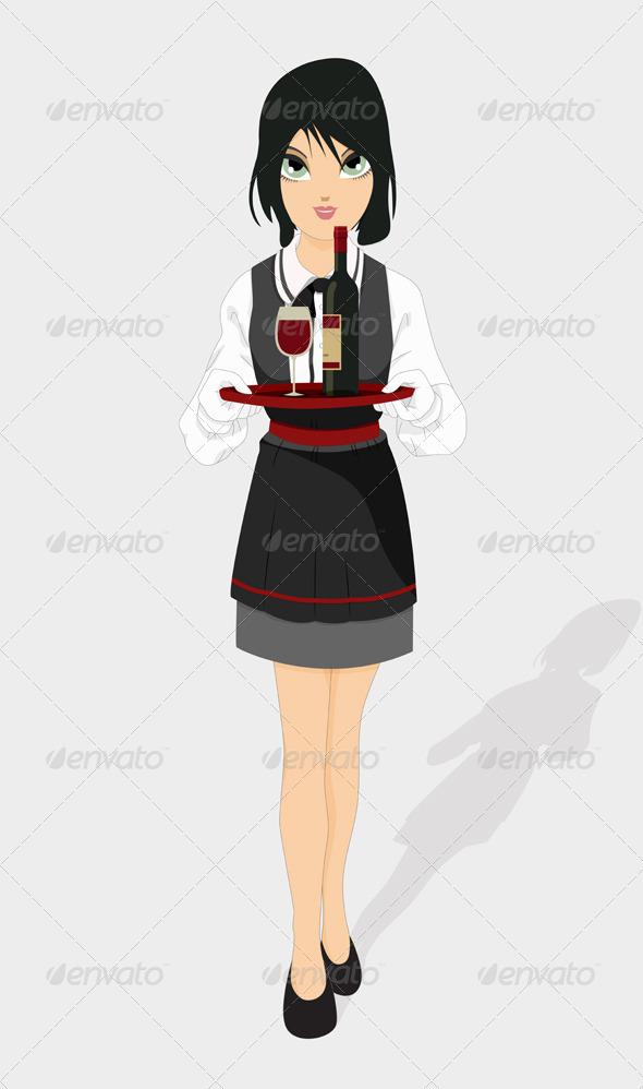 GraphicRiver Restaurant Waiter 8416778