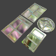 Service Trays Set 4 Parts - 3DOcean Item for Sale