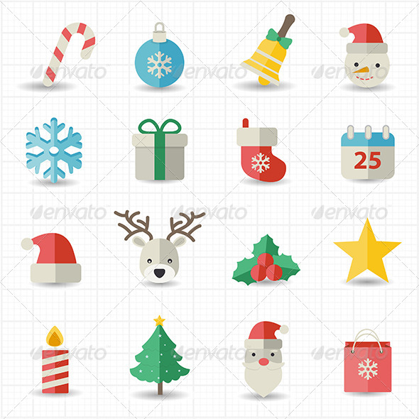 GraphicRiver Christmas Icons 8417500