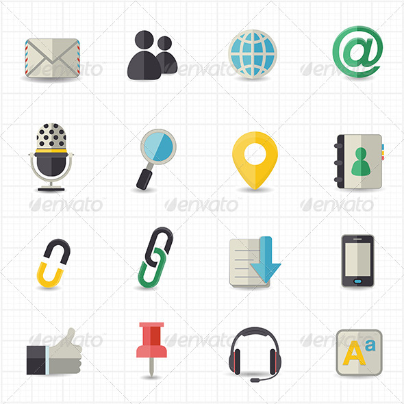 GraphicRiver Communication and Internet Icons 8417528