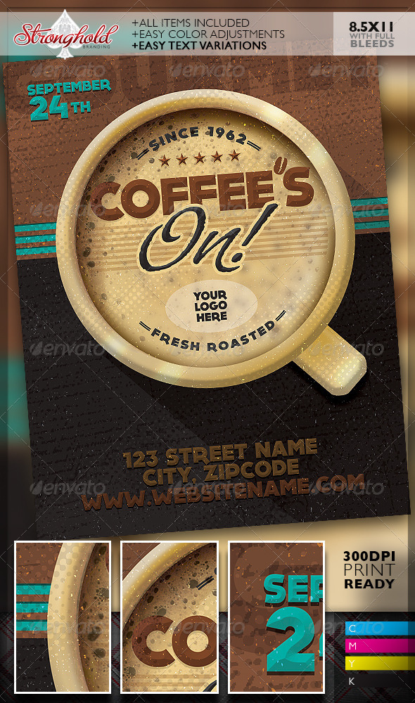 GraphicRiver Coffee s On Event Flyer Template 8417558