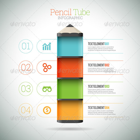 GraphicRiver Pencil Tube Infographic 8417636