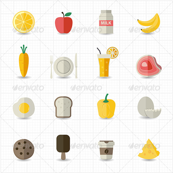 GraphicRiver Food and Drink Icons 8417707