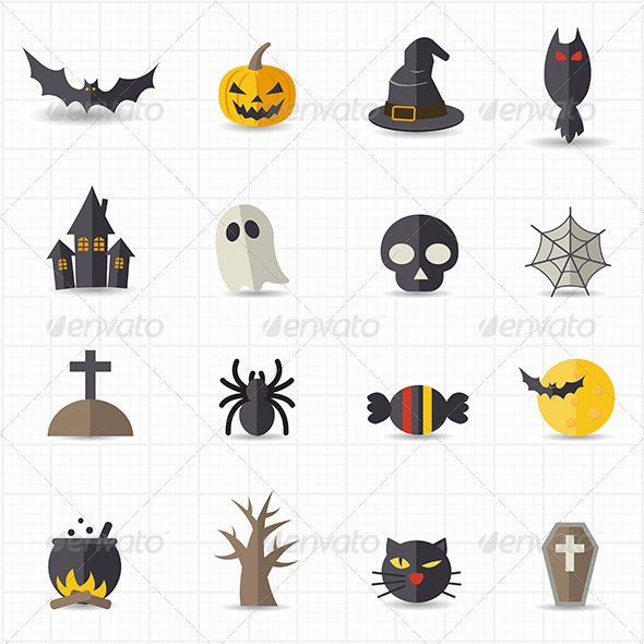 GraphicRiver Halloween Icons 8417714