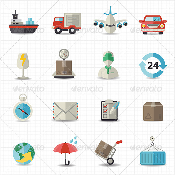GraphicRiver Logistic Shipping and Transportation Icons 8417725